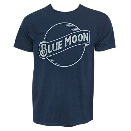 BLUE MOON Classic Logo Men's Navy Blue T-Shirt