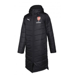 2018-2019 Arsenal Puma Long Bench Jacket (Black)