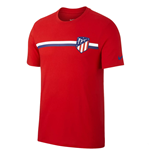 2018-2019 Atletico Madrid Nike Crest Tee (Red)