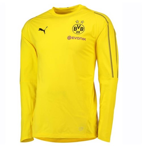 2018-2019 Borussia Dortmund Puma Training Sweat Top (Yellow)