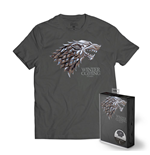 Game of Thrones T-Shirt Stark Metallic Shield