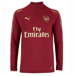 2018-2019 Arsenal Puma Half Zip Training Top (Red) - Kids fbf8e15bf86bb
