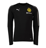 2018-2019 Borussia Dortmund Puma Training Sweat Top (Black) - Kids