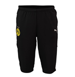 2018-2019 Borussia Dortmund Puma Three Quarter Length Pants (Black)