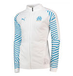 2018-2019 Olympique Marseille Puma Stadium Jacket (White)