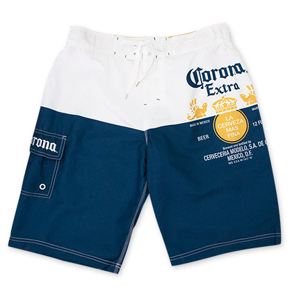 CORONA EXTRA Label Men's Swim Board Shorts