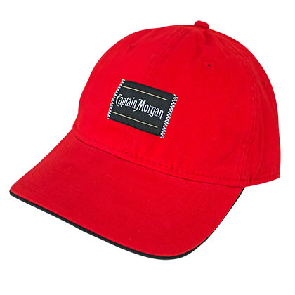 Captain Morgan Patch Men's Red Adjustable Hat