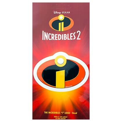 Disney Pixar INCREDIBLES 2 Logo Decal Sticker