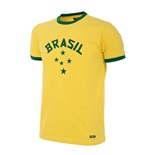Brazil 1976 Olympic Games Short Sleeve Retro Football Shirt