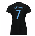 2017-18 France Away Nike Womens Shirt (Black) (Griezmann 7)