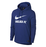 2018-2019 Chelsea Nike Core Hooded Top (Blue)