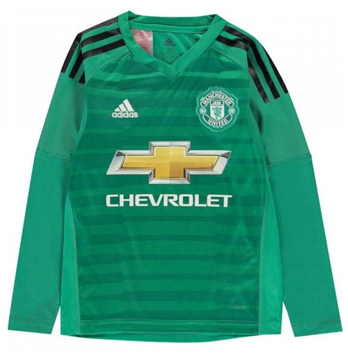 the best attitude 0a5e1 39749 2018-2019 Man Utd Adidas Home Goalkeeper Shirt (Kids)