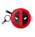 MARVEL COMICS Deadpool Face Coin Purse, Red/Black