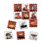 DISNEY Cars 3 Team Floor Mat Puzzle with 12 Pieces