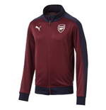 2018-2019 Arsenal Puma T7 Track Jacket (Pomegranate)