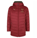 2018-2019 Arsenal Puma Reversible Bench Jacket (Red-Green)