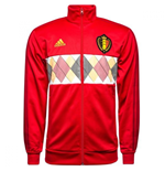 2018-2019 Belgium Adidas 3S Track Top (Red)