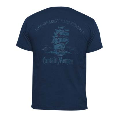 CAPTAIN MORGAN Legends Men's Navy Blue TShirt
