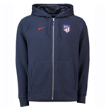 2018-2019 Atletico Madrid Nike Venue Full Zip Hoodie (Obsidian)