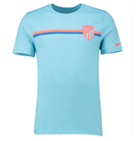 2018-2019 Atletico Madrid Nike Crest Tee (Blue Gale)