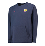 2018-2019 Barcelona Nike Authentic Venue Crew Sweatshirt (Obsidian)