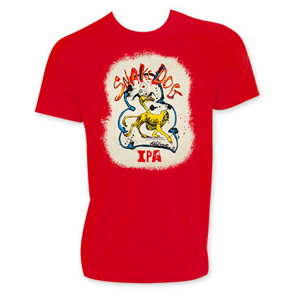 FLYING DOG Snake Dog Men's Red TShirt