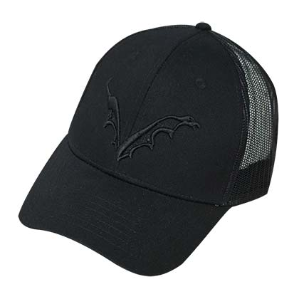 FLYING DOG Logo Men's Mesh Trucker Black Hat