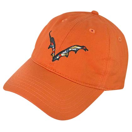 FLYING DOG Batwing Logo Orange Dad Men's Hat