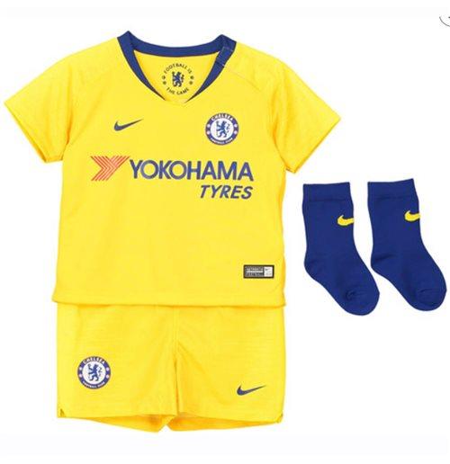 best service a7de9 23ba3 2018-2019 Chelsea Away Nike Baby Kit