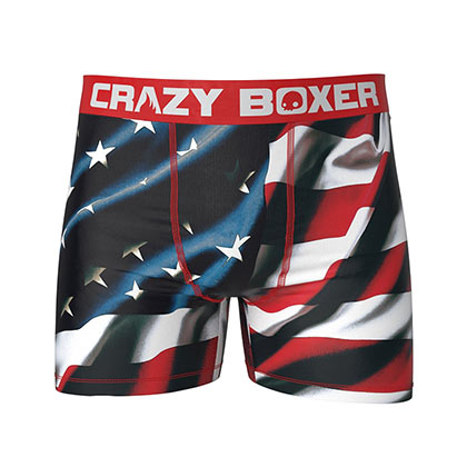 American Flag PATRIOTIC Men's Underwear Boxer Briefs