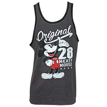 DISNEY Mickey Mouse Original Men's Grey Tank Top