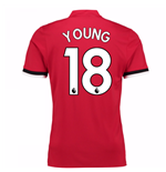 2017-2018 Man United Home Shirt (Young 18) - Kids