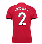 2017-2018 Man United Home Shirt (Lindelof 2)