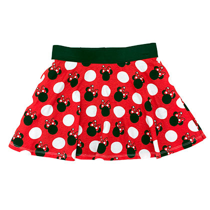 DISNEY Minnie Mouse Classic Youth Girls 7-16 Skirt Shorts