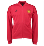 2018-2019 Man Utd Adidas Zone Anthem Jacket (Red)