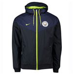 2018-2019 Man City Nike Authentic Windrunner Jacket (Navy)