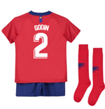 2018-2019 Atletico Madrid Home Nike Little Boys Mini Kit (Godin 2)