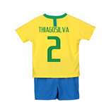 2018-2019 Brazil Home Nike Little Boys Mini Kit (Thiago Silva 2)