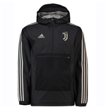 2018-2019 Juventus Adidas 3S Windbreaker (Black)