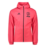 2018-2019 Man Utd Adidas Training Rain Jacket (Pink)