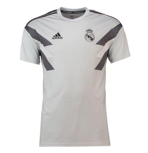 new product c0839 9f2f1 2018-2019 Real Madrid Adidas Pre-Match Training Shirt (Grey)