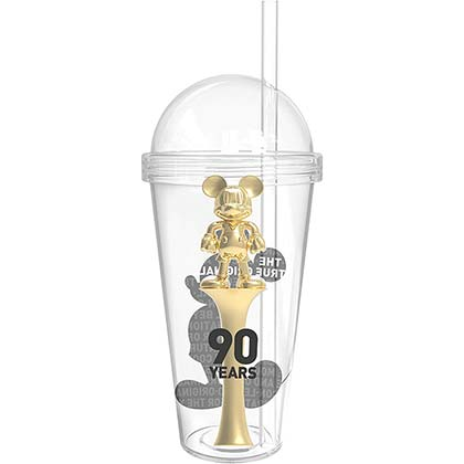 Mickey Mouse 90 Years 23oz Treasure Tumbler Cup with Straw