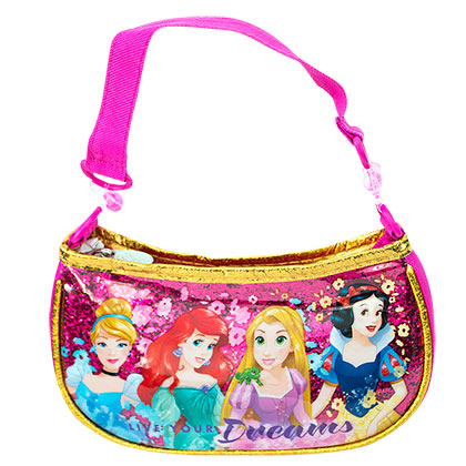 DISNEY Princess Youth Girls Pink Small Handbag Purse