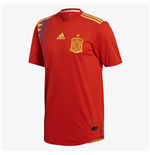 2018-2019 Spain Authentic Authentic Home Adidas Football Shirt