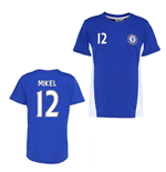 Official Chelsea Training T-Shirt (Blue) (Mikel 12)