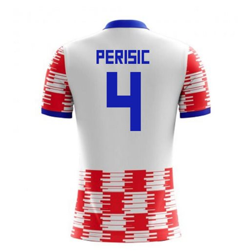 2018-19 Croatia Home Concept Shirt (Perisic 4) - Kids