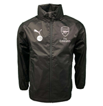 2018-2019 Arsenal Puma Rain Jacket (Iron Gate)