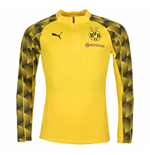 2018-2019 Borussia Dortmund Puma Quarter Zip Training Top (Yellow)