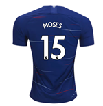 2018-2019 Chelsea Home Nike Football Shirt (Moses 15)