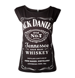 JACK DANIEL'S Old No.7 Brand Shirt with Back Zipper, Female, Medium, Black